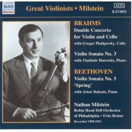 Beethoven Brahms Nathan Milstein (1904-1992) - Johannes Brahms