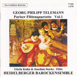 Pariser Flötenquartette Vol.1 - Georg Philipp Telemann