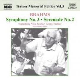 TINTNER MEMORIAL EDITION - J. BRAHMS