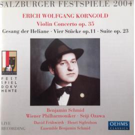 Violin Concerto / Gesang Der Heliane / Vier Stücke / Suite - Erich Wolfgang Korngold