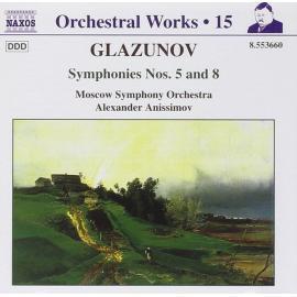 Symphonies Nos. 5 And 8 - Alexander Glazunov