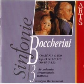 Sinfonie Op.35 N.1 G509, Op.41, N.3 G519, Op.45, G522 - Vol.3 - Luigi Boccherini