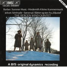Wind Quintets By Barber, Sæverud, Jolivet & Hindemith - Samuel Barber
