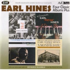 """Four Classic Albums Plus: A Monday Date / Paris One Night Stand / Earl's Pearls / The Incomparable Earl """"Fatha"""" Hines - Earl Hines"""