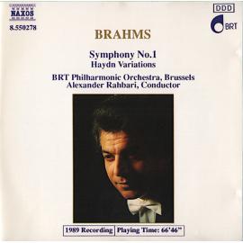 Symphony No. 1 • Haydn Variations - Johannes Brahms