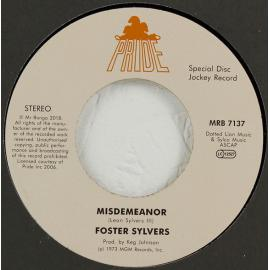 Misdemeanor / When I'm Near You - Foster Sylvers