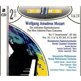 The Most Admired Piano Concertos  - Wolfgang Amadeus Mozart