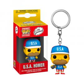 Simpsons: Funko Pop! Keychain - Usa Homer (Portachiavi) -