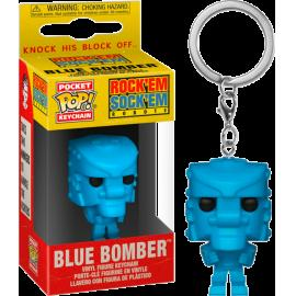Mattel: Funko Pop! Keychain - Rockemsockemrobot (Blue) -