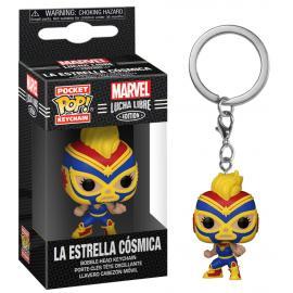 Marvel: Funko Pop! Keychain - Lucha Libre Edition - La Estrella Cosmica (Captain Marvel) (Portachiav -