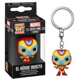 Marvel: Funko Pop! Keychain - Lucha Libre Edition - El Heroe Invicto (Iron Man) (Portachiavi) -
