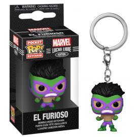 Marvel: Funko Pop! Keychain - Lucha Libre Edition - El Furioso (Hulk) (Portachiavi) -
