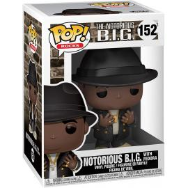 NOTORIOUS B.I.G WITH FEDORA #152-FUNKO POP! ROCKS THE NOTORIOUS BIG -