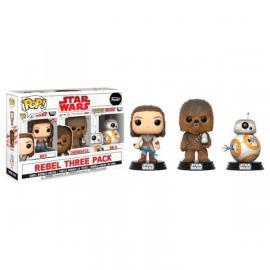 Pop Funko: Star Wars 3 Pack The Last Jedi Good Guys 3 Pack -