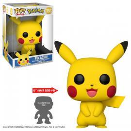 """Funko - Games: Pokemon (Pikachu 10"") POP! Vinyl /Toys"" -"