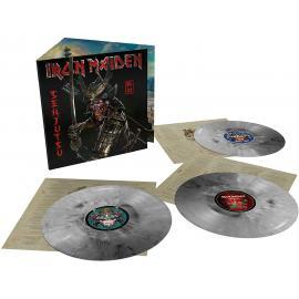 SENJUTSU. (Silver & Black Marble Triple Vinyl) - Iron Maiden