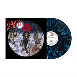 LP-SLAYER-LIVE UNDEAD -BLUE/WHITE BLACK SPLATTER- -