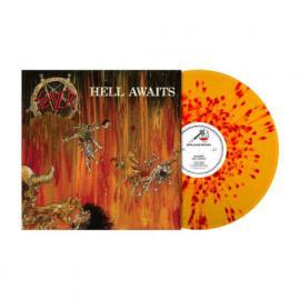 HELL AWAITS -ORANGE/RED SPLATTER- - Slayer
