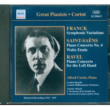 Frank ; Saint-Saens ; Ravel -- Alfred Cortot, Piano (Historical Recordings 1931-1935) - Alfred Cortot