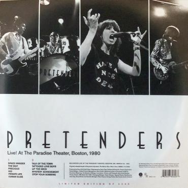 Live! At The Paradise Theater, Boston, 1980 - The Pretenders