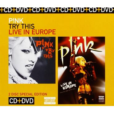 TRY THIS LIVE IN EUROPE CD+DVD - P!NK