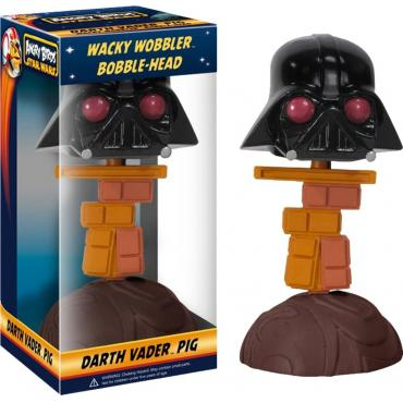 Funko - Angry Birds - Star Wars - Wacky Wobbler Bobble-Head - Darth Vader Pig -