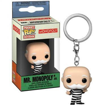 Monopoly: Funko Pop! Keychain - Mr. Monopoly In Jail (Portachiavi) -