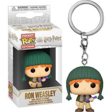 Harry Potter: Funko Pop! Keychain - Holiday - Ron Weasley (Portachiavi) -