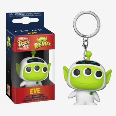 Disney: Funko Pop! Keychain - Pixar Alien Remix - Eve (Portachiavi) -