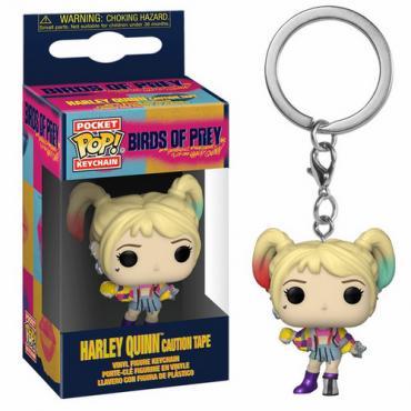 Birds Of Prey: Funko Pop! Keychain - Harley Quinn (Caution Tape) (Portachiavi) -