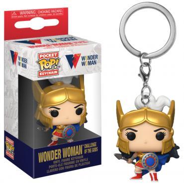 Dc Comics: Funko Pop! Keychain - Wonder Woman 80Th - Wonder Woman Challenge Of The Gods (Portachiavi -